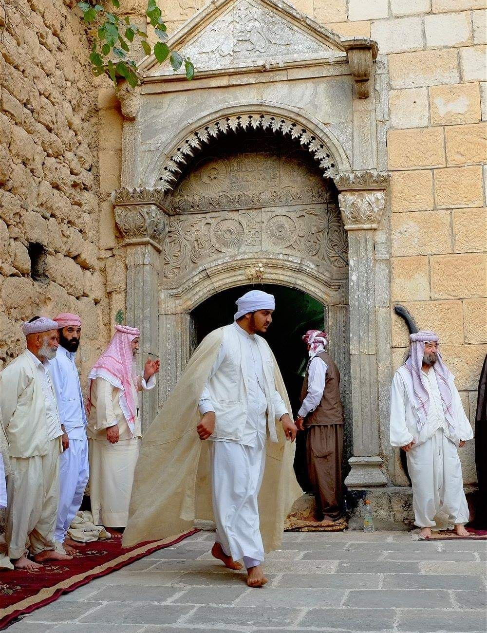 Yezidis at Lalish temple
