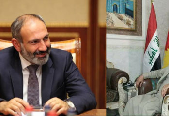 Armenian PM Nikol Pashinyan and Ezidikhan PM Hammo