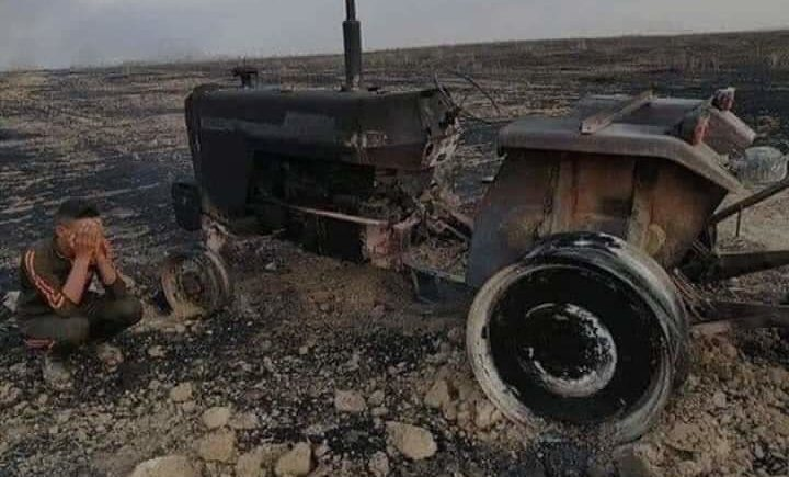 Loss of costly farm machinery to systematic arson is a staggering blow to struggling farmers.