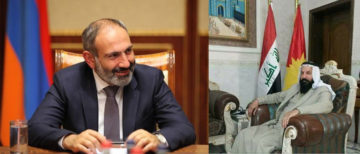 Armenian PM Nikol Pashinyan and Ezidikhan PM Hammo