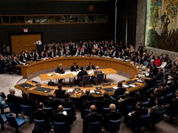 The United Nations Security Council in session