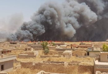 The genocide-hit village of Kocho south of Shingal has been hit by a devastating fire destroying crops, livestock and far, machinery.